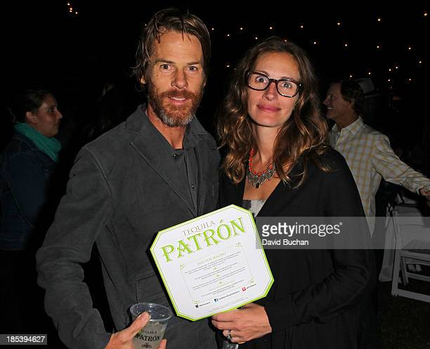 Actress Julia Roberts and Danny Moder attend the Malibu Boys And Girls Club Gala on October 19 2013 in Malibu California