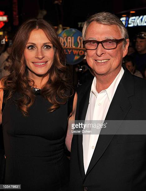 Actress Julia Roberts and director Mike Nichols arrive to the premiere of Universal Pictures' Charlie Wilson's War at City Walk Cinemas on December...