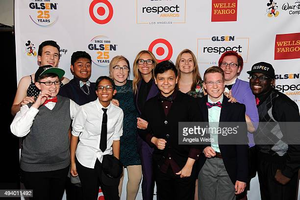 Actress Julia Roberts and GLSEN Student Ambassadors attend the 2015 GLSEN Respect Awards at the Beverly Wilshire Four Seasons Hotel on October 23...