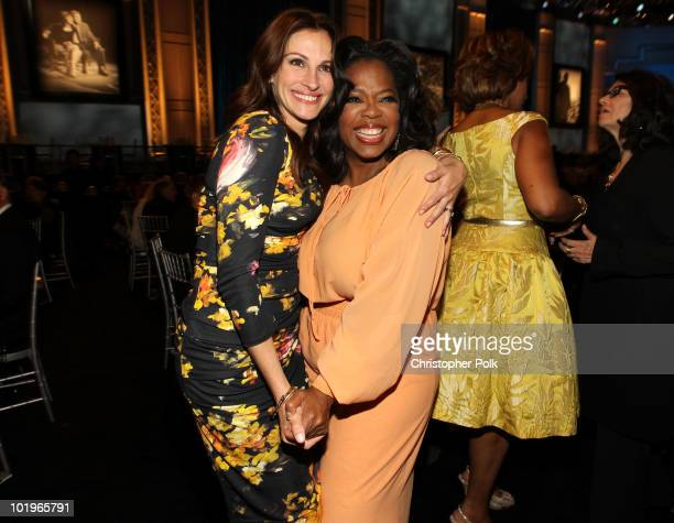 Actress Julia Roberts and Oprah Winfrey in the audience during the 38th AFI Life Achievement Award honoring Mike Nichols held at Sony Pictures...
