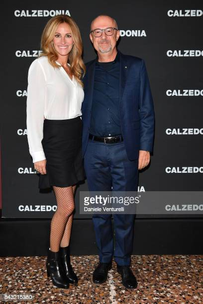 Actress Julia Roberts and Sandro Veronesi attends Calzedonia Legs Show on September 5 2017 in Verona Italy