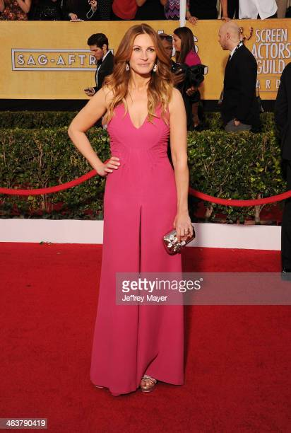 Actress Julia Roberts arrives at the 20th Annual Screen Actors Guild Awards at The Shrine Auditorium on January 18 2014 in Los Angeles California