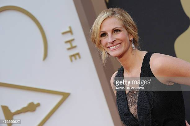 Actress Julia Roberts arrives at the 86th Annual Academy Awards at Hollywood Highland Center on March 2 2014 in Hollywood California