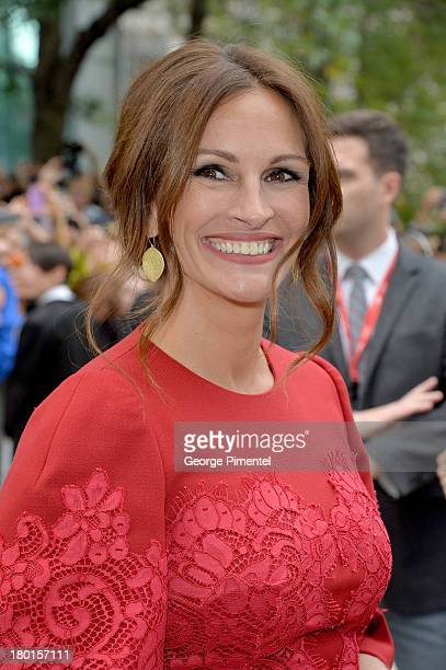Actress Julia Roberts arrives at the August Osage County Premiere during the 2013 Toronto International Film Festival at TIFF Bell Lightbox on...
