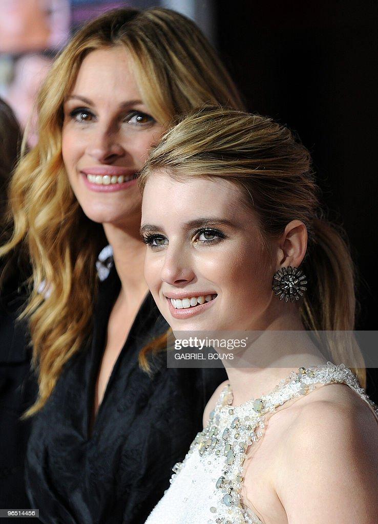 Actress Julia Roberts Arrives With Her Niece Actress Emma