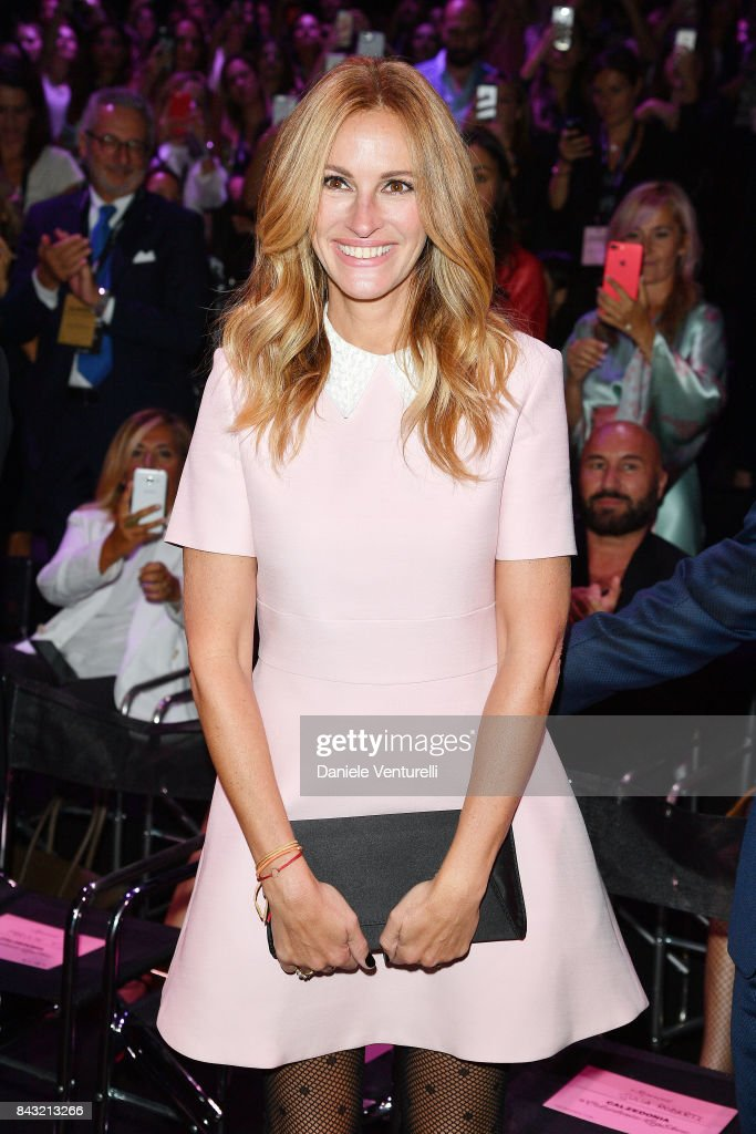Actress Julia Roberts attends Calzedonia Legs Show on September 5, 2017 in Verona, Italy.