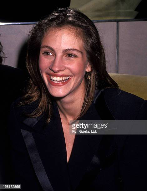 Actress Julia Roberts attends Richard Tyler's Fall Collection Fashion Show on April 15 1992 at Royalton Hotel in New York City