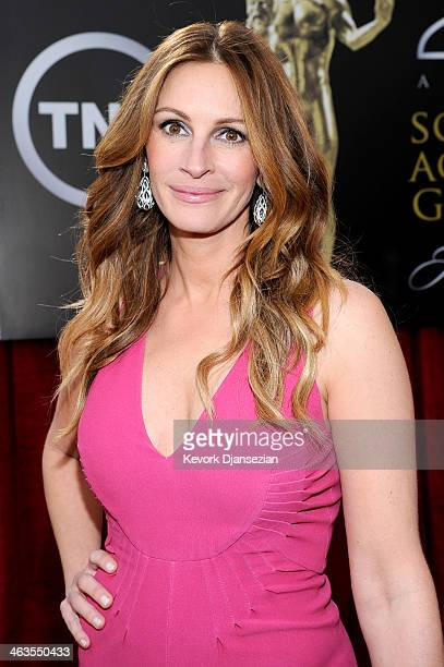 Actress Julia Roberts attends the 20th Annual Screen Actors Guild Awards at The Shrine Auditorium on January 18 2014 in Los Angeles California