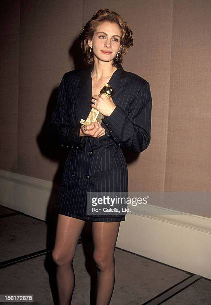 Actress Julia Roberts attends the 48th Annual Golden Globe Awards on January 19 1991 at Beverly Hilton Hotel in Beverly Hills California