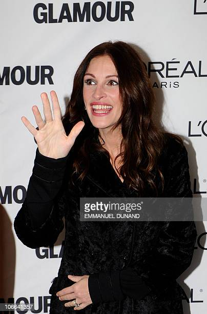 Actress Julia Roberts attends the annual Glamour Women of the Year awards at Carnegie Hall on November 8, 2010 in New York City. AFP PHOTO/Emmanuel...