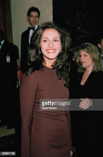 Actress Julia Roberts attends the BAFTA awards at the Grosvenor House Hotel in London 19th April 1998