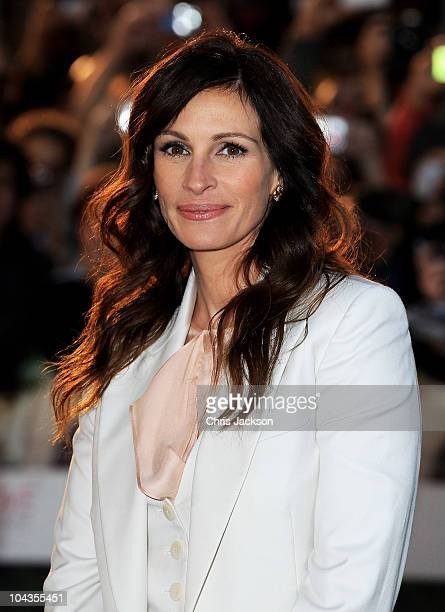 Actress Julia Roberts attends the Eat Pray Love UK premiere at the Empire Leicester Square on September 22 2010 in London England