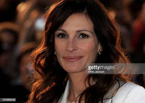 Actress Julia Roberts attends the 'Eat Pray Love' UK premiere at the Empire Leicester Square on September 22 2010 in London England