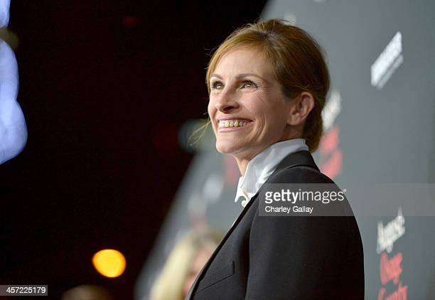 """Actress Julia Roberts attends the LA premiere Of """"August: Osage County"""" presented by The Weinstein Company in partnership with Bombardier at Regal..."""