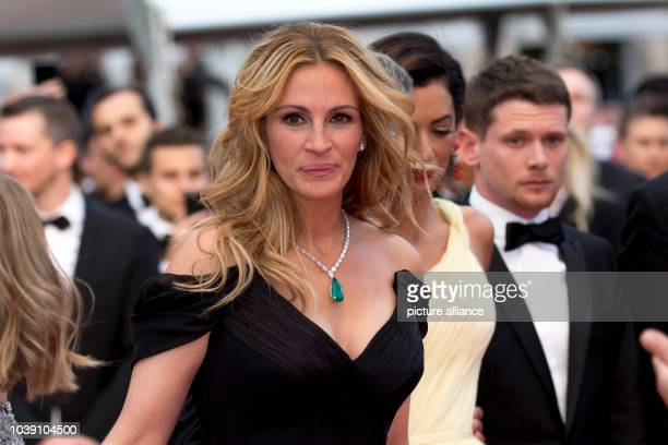 Actress Julia Roberts attends the premiere of Money Monster during the 69th Annual Cannes Film Festival at Palais des Festivals in Cannes France on...
