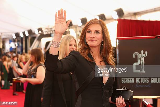 Actress Julia Roberts attends TNT's 21st Annual Screen Actors Guild Awards at The Shrine Auditorium on January 25 2015 in Los Angeles California...