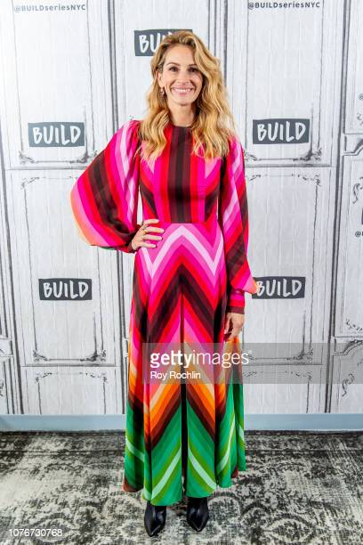 "Actress Julia Roberts discusses ""Ben is Back"" with the Build Series at Build Studio on December 03, 2018 in New York City."
