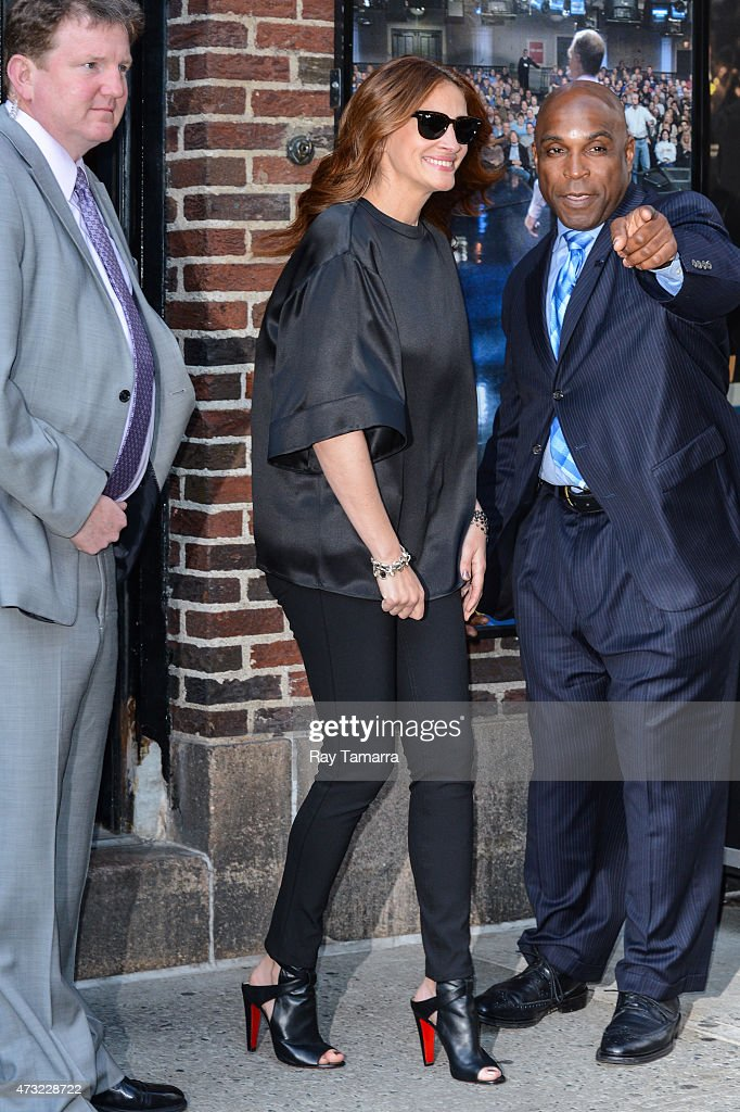 """Celebrities Visit """"Late Show With David Letterman"""" - May 13, 2015 : ニュース写真"""