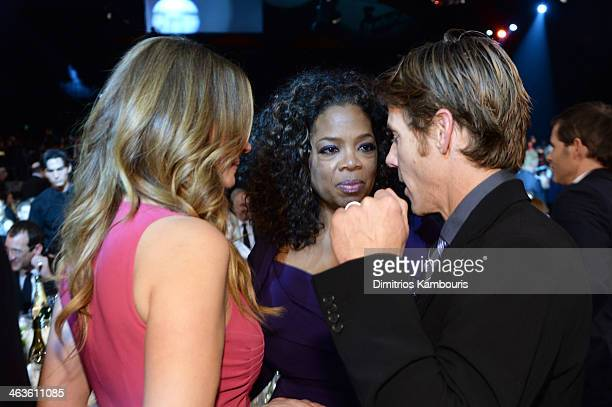 Actress Julia Roberts Oprah Winfrey and Danny Moder attend the 20th Annual Screen Actors Guild Awards at The Shrine Auditorium on January 18 2014 in...