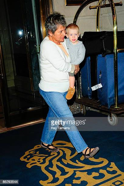Actress Julia Roberts' son Henry Daniel Moder leaves the RitzCarlton Hotel on March 7 2009 in New York City
