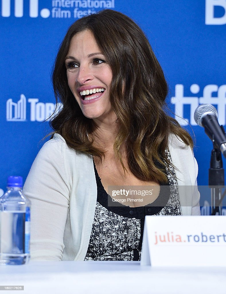 Actress Julia Roberts speaks at the 'August: Osage County' Press Conference during the 2013 Toronto International Film Festival at TIFF Bell Lightbox on September 10, 2013 in Toronto, Canada.