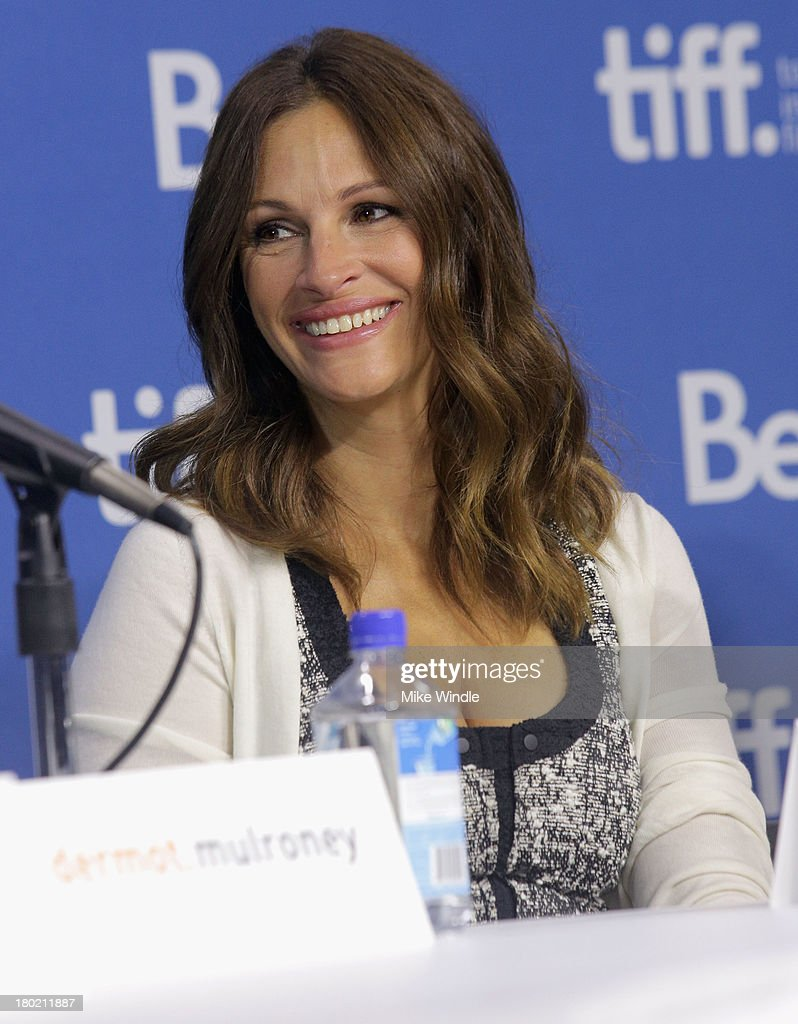 Actress Julia Roberts speaks onstage at 'August: Osage County' Press Conference during the 2013 Toronto International Film Festival at TIFF Bell Lightbox on September 10, 2013 in Toronto, Canada.