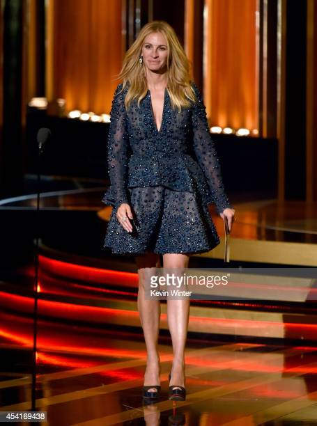 Actress Julia Roberts speaks onstage at the 66th Annual Primetime Emmy Awards held at Nokia Theatre LA Live on August 25 2014 in Los Angeles...