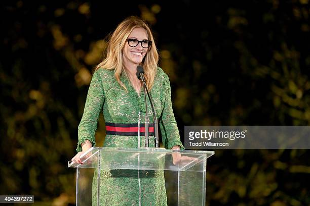 Actress Julia Roberts speaks onstage during the InStyle Awards at Getty Center on October 26 2015 in Los Angeles California