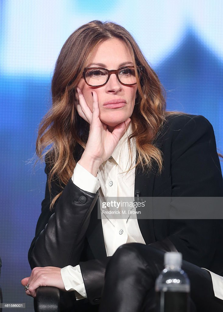 Actress Julia Roberts speaks onstage during the 'The Normal Heart' panel discussion at the HBO portion of the 2014 Winter Television Critics Association tour at the Langham Hotel on January 9, 2014 in Pasadena, California.