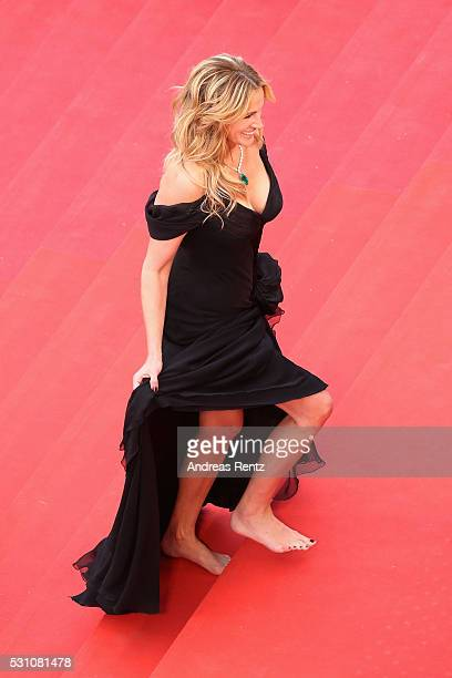 Actress Julia Roberts walks up upon their arrival at the 'Money Monster' premiere during the 69th annual Cannes Film Festival at the Palais des...