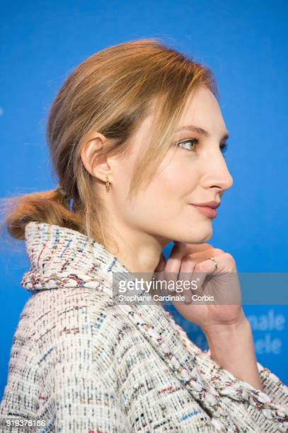 Actress Julia Roy poses at the 'Eva' photo call during the 68th Berlinale International Film Festival Berlin at Grand Hyatt Hotel on February 17 2018...
