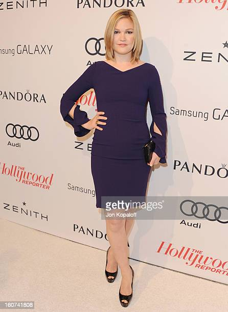 Actress Julia Stiles arrives at The Hollywood Reporter Nominees' Night 2013 Celebrating 85th Annual Academy Award Nominees at Spago on February 4,...