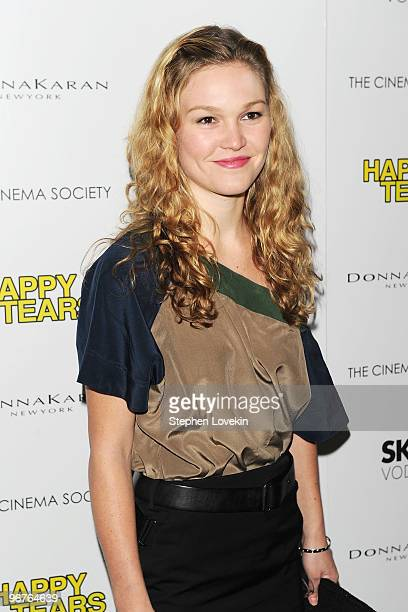 Actress Julia Stiles attends a screening of Happy Tears hosted by the Cinema Society and Donna Karan at The Museum of Modern Art on February 16 2010...