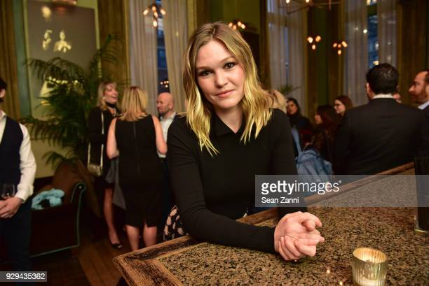 Actress Julia Stiles attends as Ovation TV hosts 20182019 Programming Preview at Soho Grand Hotel on March 8 2018 in New York City