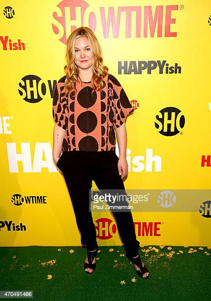 Actress Julia Stiles attends 'HAPPYish' series premiere at Sunshine Cinema on April 20 2015 in New York City