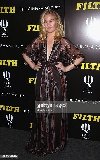 Actress Julia Stiles attends Magnolia Pictures with The Cinema Society screening of 'Filth'at Landmark's Sunshine Cinema on May 19 2014 in New York...