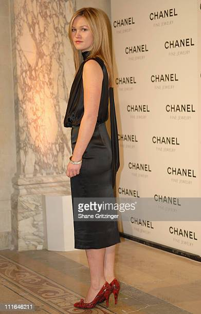 Actress Julia Stiles attends 'Night Of Diamonds' hosted by Chanel Fine Jewelry on January 16 2008 in New York City New York