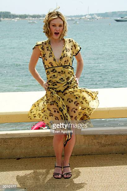 Actress Julia Stiles poses at the photocall for The Prince and the Freshman at the Majestic Pier during 56th International Cannes Film Festival 2003...