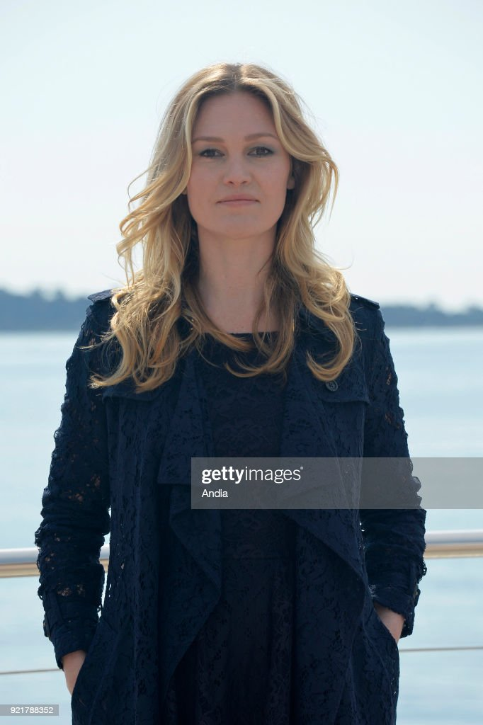 Actress Julia Stiles posing for a photocall on the occasion of the MipTV, International Television Programme Market, in Cannes (south-eastern France) on .