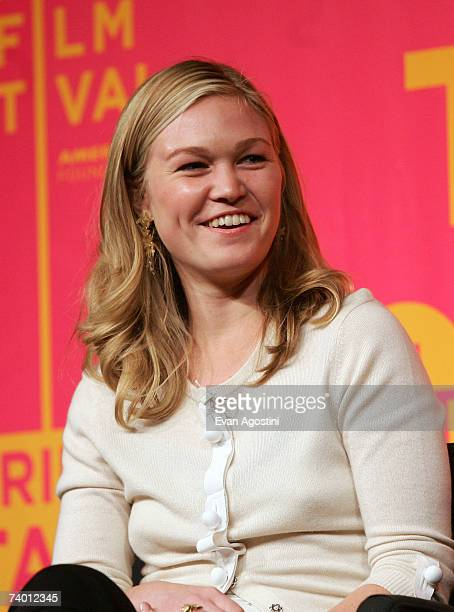 Actress Julia Stiles speaks during the Bringing Home The Bacon panel discussion at the 2007 Tribeca Film Festival on April 27 2007 in New York City
