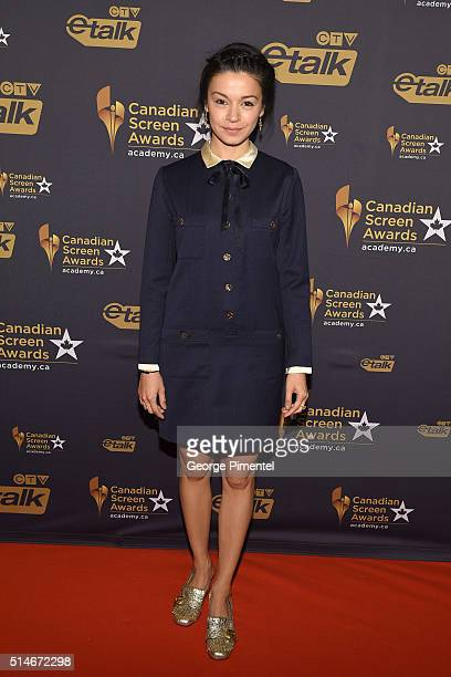 Actress Julia Taylor Ross attends the Canadian Screen Awards at Westin Harbour Castle Hotel on March 9 2016 in Toronto Canada