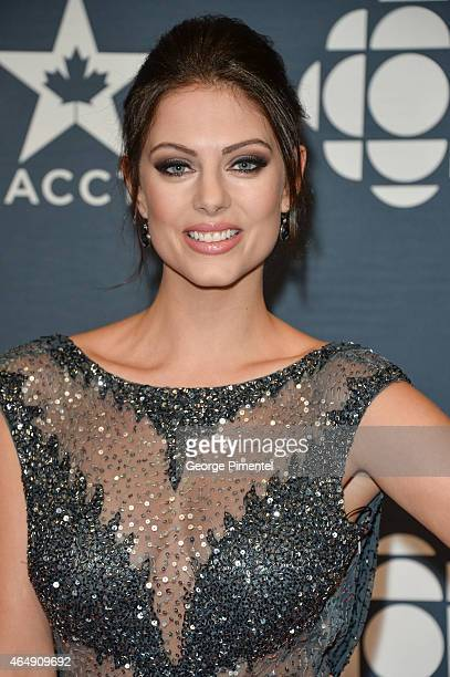 Actress Julia Voth arrives at the 2015 Canadian Screen Awards at the Four Seasons Centre for the Performing Arts on March 1 2015 in Toronto Canada