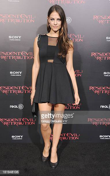 Actress Julia Voth arrives at the Los Angeles premiere of Resident Evil Retribution at Regal Cinemas LA Live on September 12 2012 in Los Angeles...