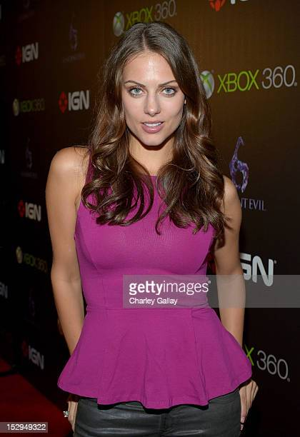 Actress Julia Voth attends IGN and Capcom's party celebrating the launch of Resident Evil 6 at Lure on September 28 2012 in Hollywood California
