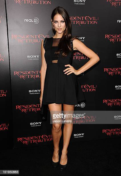 Actress Julia Voth attends the premiere of Resident Evil Retribution at Regal Cinemas LA Live on September 12 2012 in Los Angeles California