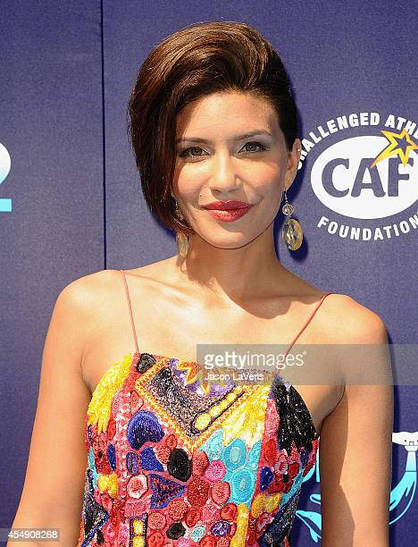 Actress Juliana Harkavy attends the premiere of Dolphin Tale 2 at Regency Village Theatre on September 7 2014 in Westwood California