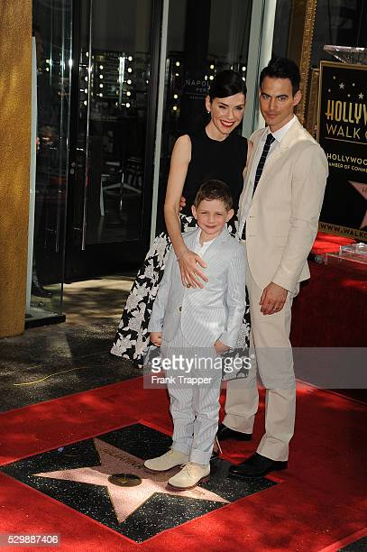 Actress Juliana Margulies husband Keith Lieberthal and son Kiernan Lindsay Lieberthal pose at the ceremony that honored her with a Star on the...