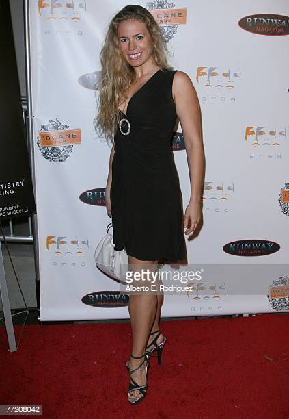 Actress Juliana Zamille arrives at the Runway Magazine launch party held at Area nightclub on October 5 2007 in West Hollywood California