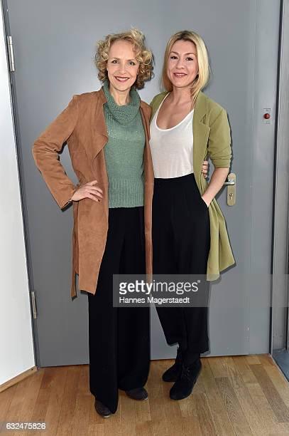 Actress Juliane Koehler and Genija Rykova attend the BR film brunch on January 23 2017 in Munich Germany