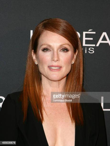 Actress Juliane Moore prepares with L'Oreal for the Still Alice Premiere during the 2014 Toronto International Film Festival at the ShangriLa Hotel...
